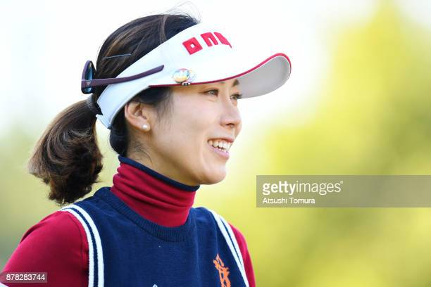 JiHee Lee of South Korea smiles during the second round of the LPGA Tour Championship Ricoh Cup 2017 at the Miyazaki Country Club on November 24 2017...