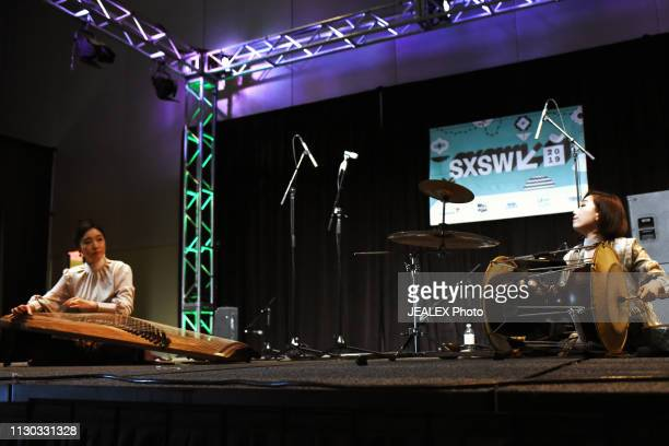 Jihye Lim and Sora Kim of DUO BUD perform onstage at SXSW presents the International Day Stage during the 2019 SXSW Conference and Festivals at...