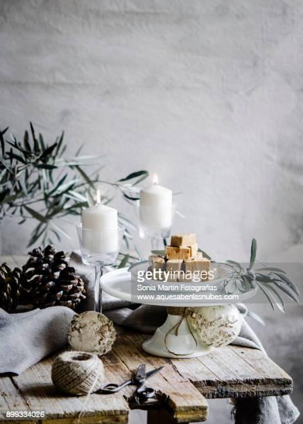 jijona nougat - nougat stock pictures, royalty-free photos & images