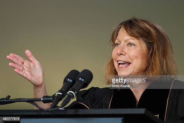Jill Abramson, former executive editor at the New York Times speaks during commencement ceremonies for Wake Forest University on May 19, 2014 in...