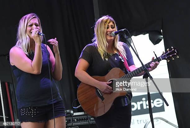 Jill and Kate perform at Country Thunder Day 4 In Twin Lakes Wisconsin on July 26 2015 in Twin Lakes Wisconsin