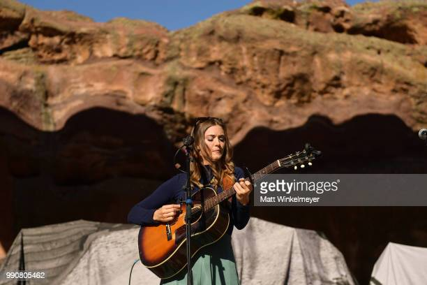 Jill Andrews performs at Red Rocks Amphitheatre on July 1 2018 in Morrison Colorado