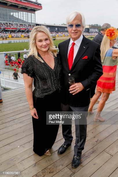 Jill Baffert and Bob Baffert at The Stronach Group Chalet at the 144th Preakness Stakes at Pimlico Race Track on May 18 2019 in Baltimore Maryland