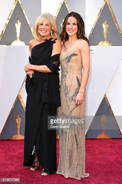 Jill Biden and Ashley Biden attends the 88th Annual Academy Awards at Hollywood Highland Center on February 28 2016 in Hollywood California