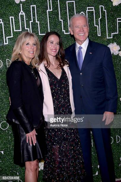 Jill Biden Ashley Biden and Joe Biden attend Gilt x Livelihood Launch Event at 6 St John's Lane on February 7 2017 in New York City