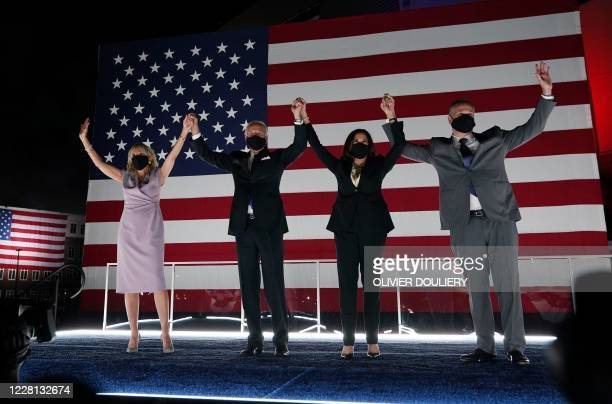 Jill Biden, former vice-president and Democratic presidential nominee Joe Biden, Senator from California and Democratic vice presidential nominee...