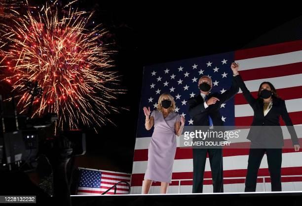 Jill Biden, husband former vice-president and Democratic presidential nominee Joe Biden and Senator from California and Democratic vice presidential...