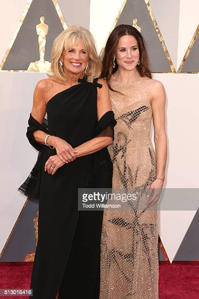 Jill Biden Second Lady of the United States and Ashley Biden attend the 88th Annual Academy Awards at Hollywood Highland Center on February 28 2016...