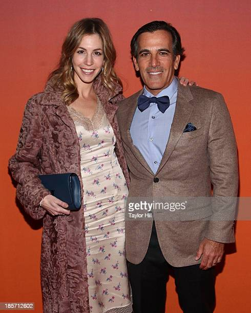 Jill Bikoff and Darius Bikoff attend the 2013 Whitney Gala and Studio party at Skylight at Moynihan Station on October 23 2013 in New York City