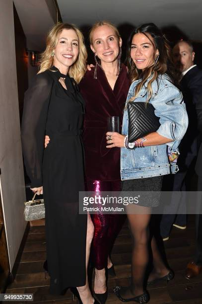 Jill Bikoff Cori Galpern and Libbie Mugrabi attend Billy Macklowe's 50th Birthday Spectacular at Chinese Tuxedo on April 21 2018 in New York City
