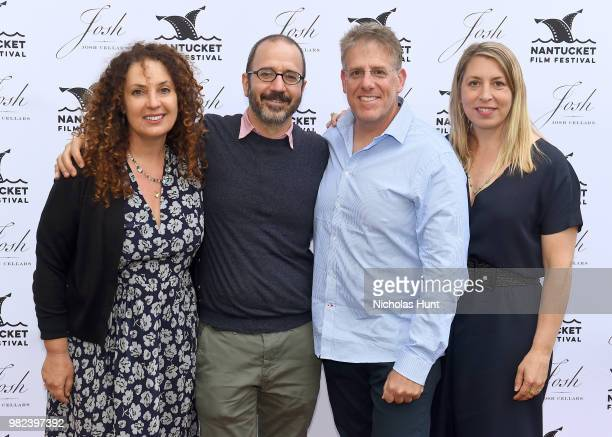 Jill Burkhart Basil Tsiokos Jonathan Burkhart and Mystelle Brabbee attend the Screenwriters Tribute at the 2018 Nantucket Film Festival Day 4 on June...