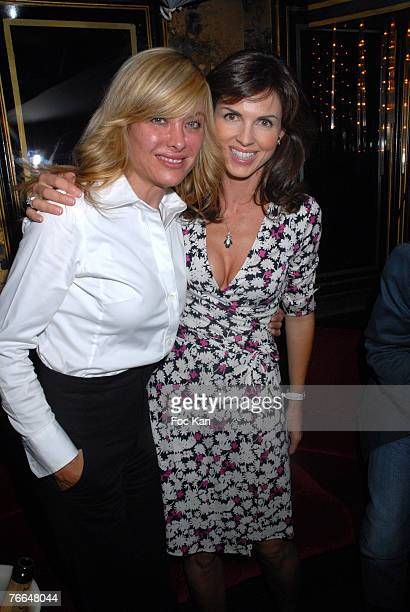 Jill Cerrone and Caroline Barclay attend The 33rd Deauville Film Festival JB Moet After Party at the Regines Club on September 01 2007 in Deauville...