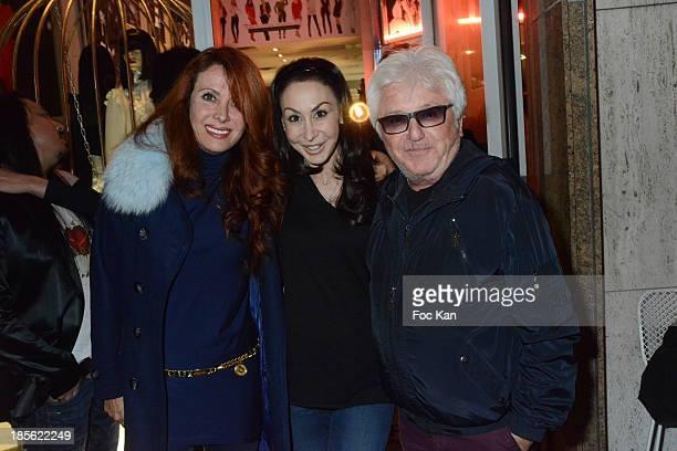 Jill Cerrone Stefanie Renoma and Marc Cerrone attend the 'Renoma 50th Anniversary' at Renoma Store Rue de La Pompe on October 22 2013 in Paris France
