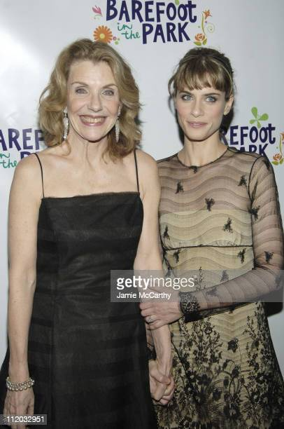 Jill Clayburgh and Amanda Peet during Barefoot in the Park Opening Night Reception at The Central Park Boathouse in New York City New York United...