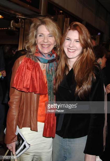 Jill Clayburgh and daughter Lily Rabe during Festen Broadway Opening Night Curtain Call and Departures at The Music Box Theatre in New York New York...