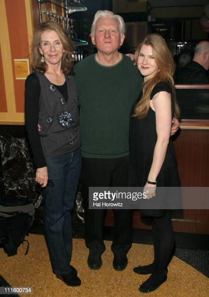 Jill Clayburgh David Rabe and Lily Rabe during 'The Fever' Off Broadway Opening Night at Metro Marche in New York City New York United States