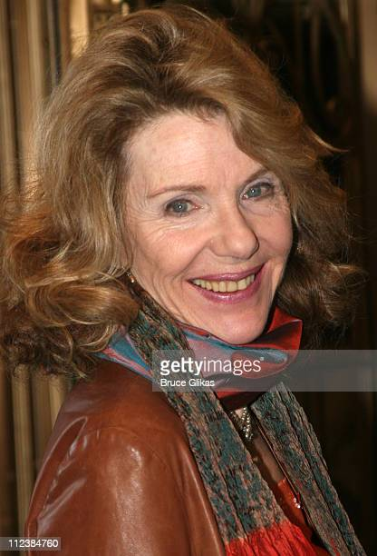 Jill Clayburgh during Festen Broadway Opening Night Arrivals at The Music Box Theater in New York City New York United States