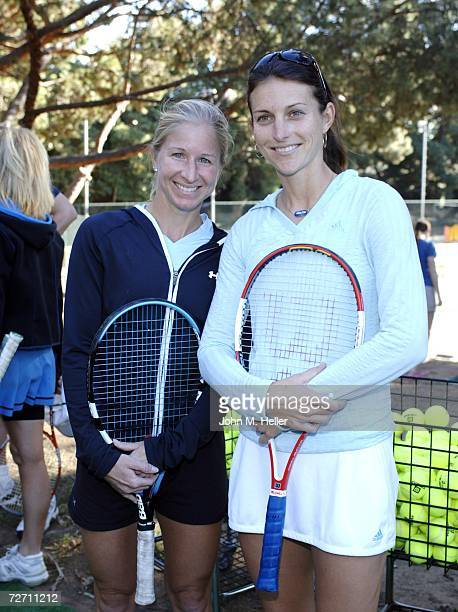 Jill Craybas and Corina Morariu attend the 10th Anniversary of the Palisades Tennis Center presents The Bryan Brothers Rackets Stars Guitars at the...