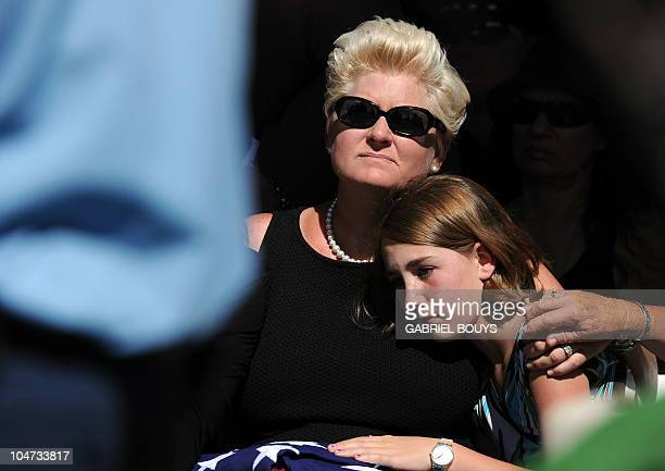 Jill Curtis attends the funeral of her husband Hollywood legend Tony Curtis at the Palm Mortuary and Cemetery, Green Valley in Las Vegas on October...