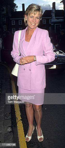 Jill Dando during Jill Dando at David Frost's Annual Summer Garden Party at Chelsea in London Great Britain