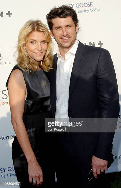 Jill Dempsey and Patrick Dempsey during Sixth Annual Chrysalis Butterfly Ball Arrivals at Home of Susan Harris Hayward Kaiser in Mandeville Canyon...