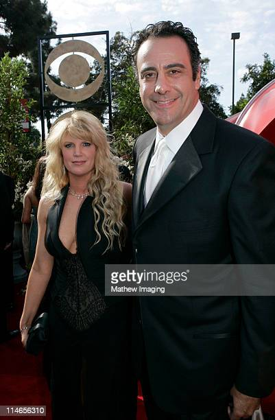 Jill Diven and Brad Garrett during 57th Annual Primetime Emmy Awards Red Carpet at The Shrine in Los Angeles California United States