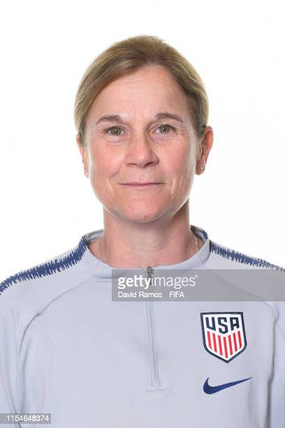 Jill Ellis, Head Coach of USA poses for a portrait during the official FIFA Women's World Cup 2019 portrait session at Best Western Premier Hotel de...