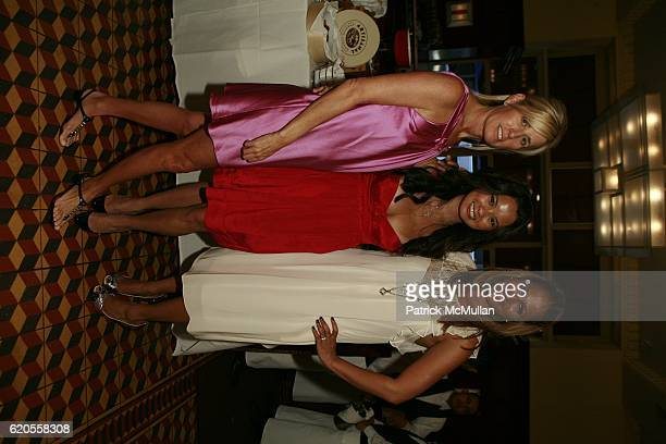 Jill Fairchild Mina Jacqueline and Amisha Lakhni attend REBECCA TAYLOR Fashion Week Party at Artisanal Restaurant on September 11 2008 in New York...