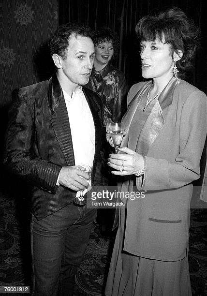 Jill Gascoigne and Wayne Sleep attend the opening night afterparty for her role in the musical 42nd Street on April 20 1988 in London