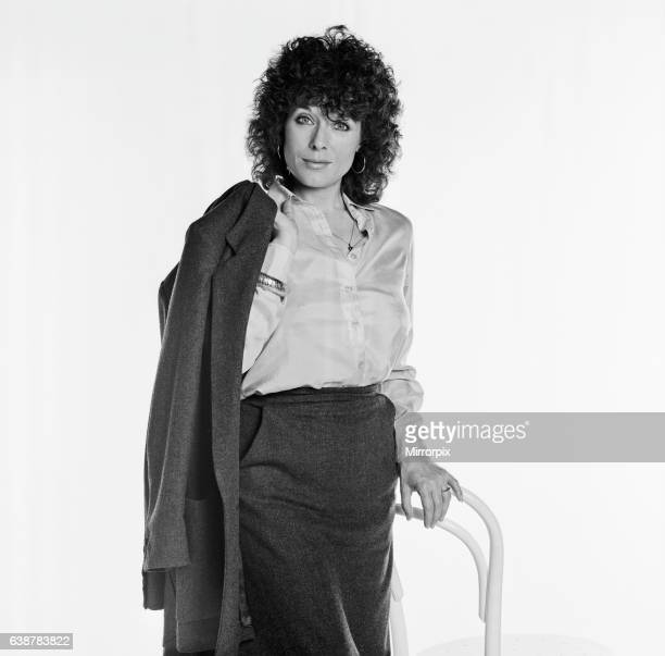Jill Gascoine actress and star of the television detective series The Gentle Touch and CATS Eyes seen in this studio shoot from 1984 Picture taken...