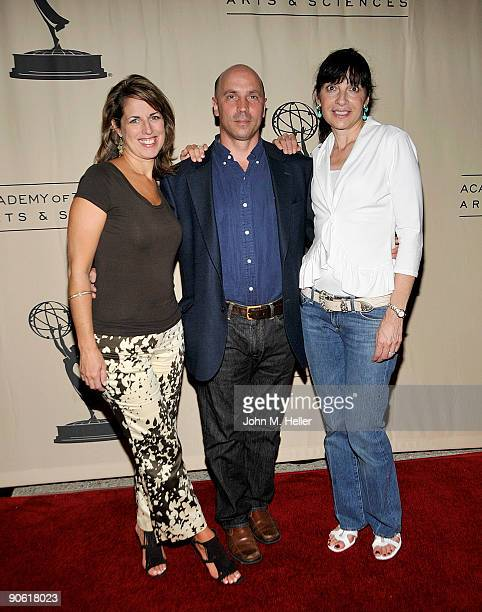 Jill Giles Sam Farrell and Marsha Bemko from the television show 'Antiques Roadshow' attend the Academy of Television Arts Sciences and the...