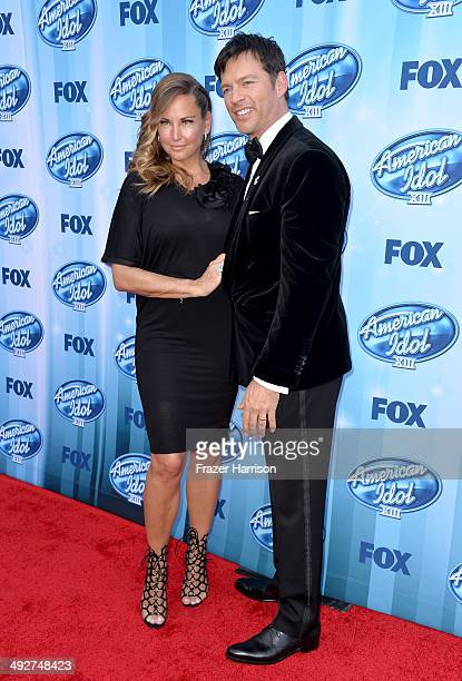 Jill Goodacre and American Idol Judge Harry Connick Jr attend Fox's American Idol XIII Finale at Nokia Theatre LA Live on May 21 2014 in Los Angeles...