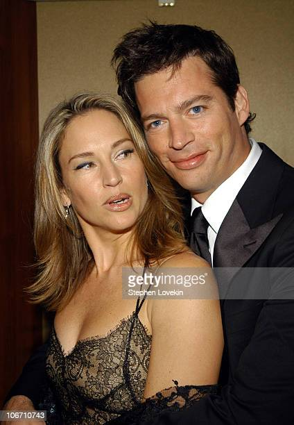 Jill Goodacre and Harry Connick Jr at the Entertainment Industry Foundation's colon cancer benefit on the Queen Mary 2