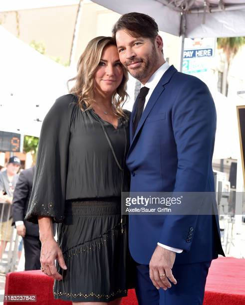 Jill Goodacre and Harry Connick Jr attend the ceremony honoring Harry Connick Jr with star on the Hollywood Walk of Fame on October 24 2019 in...