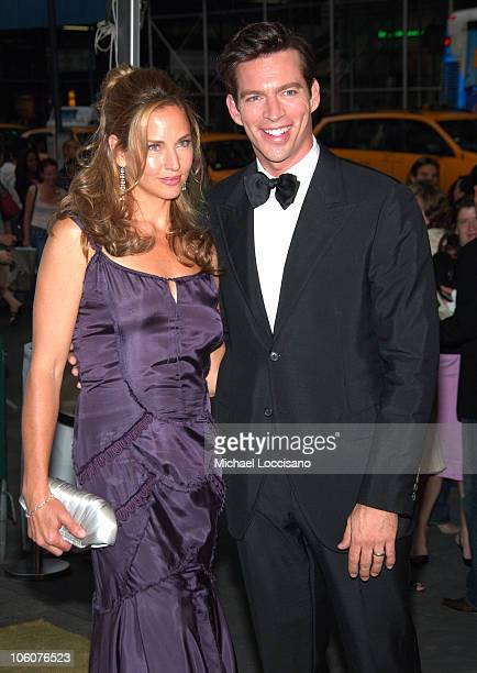 Jill Goodacre and Harry Connick Jr during 2006 CFDA Awards Arrivals at New York Public Library in New York City New York United States