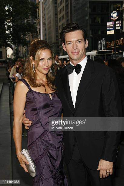 Jill Goodacre and Harry Connick Jr during 2006 CFDA Fashion Awards Arrivals at New York Public Library in New York City New York United States