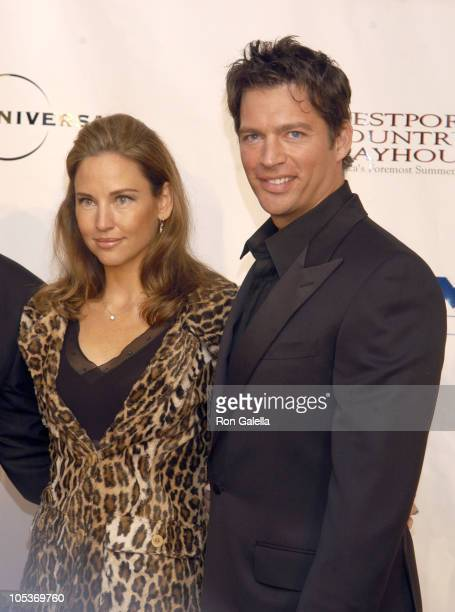 Jill Goodacre and Harry Connick Jr during Building the Future A Gala Evening Benefiting the Westport Country Playhouse at Hyatt Regency Greenwich in...