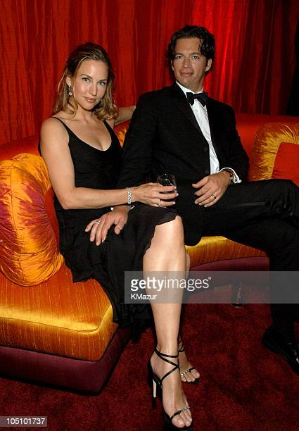 Jill Goodacre and Harry Connick Jr during Elton John AIDS Foundation's 11th Annual Oscar party cohosted by In Style and AOL in association with MAC...