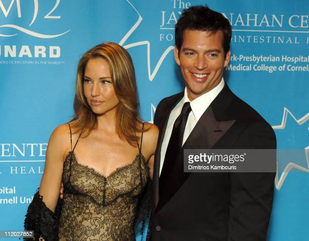 Jill Goodacre and Harry Connick Jr during Entertainment Industry Foundation's Colon Cancer Benefit on the QM2 Red Carpet at Queen Mary 2 in New York...
