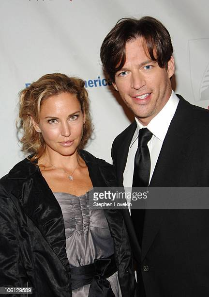 Jill Goodacre and Harry Connick Jr during Second Annual Quill Awards Gala Arrivals at Museum of Natural History in New York City NY United States