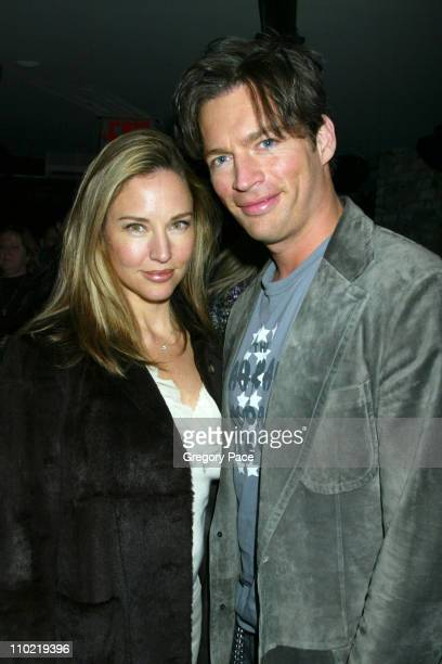 Jill Goodacre and Harry Connick Jr during Showtime's ''Fat Actress'' New York City Premiere After Party at Level V at Vento in New York City New York...
