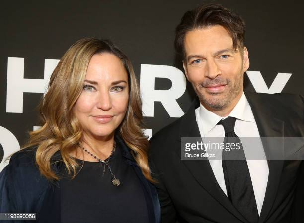 Jill Goodacre and Harry Connick Jr pose at the opening night of Harry Connick Jr A Celebration Of Cole Porter on Broadway at Nederlander Theatre on...
