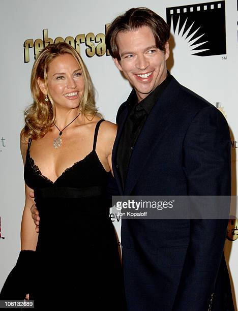 Jill Goodacre and husband Harry Connick Jr during A Fine Romance Gala Benefiting the Motion Picture and Television Fund Arrivals at Sunset Gower...