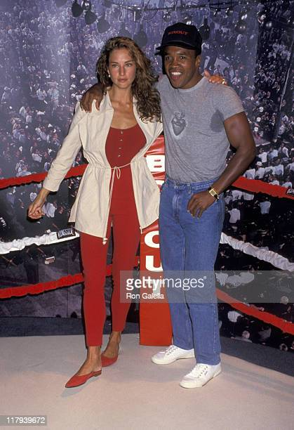 Jill Goodacre and Sugar Ray Leonard during Video Software Dealers Association Convention in Las Vegas July 11 1993 at Las Vegas Convention Center in...