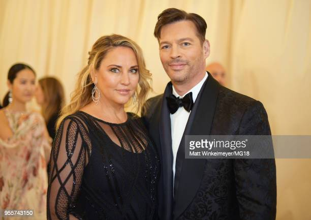 Jill Goodacre Connick and Harry Connick Jr attend the Heavenly Bodies Fashion The Catholic Imagination Costume Institute Gala at The Metropolitan...