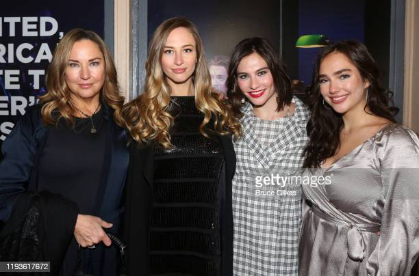 Jill Goodacre Georgia Connick Kate Connick and Charlotte Connick pose at the opening night of Harry Connick Jr A Celebration Of Cole Porter on...