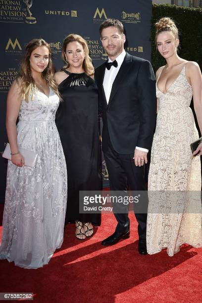 Jill Goodacre Harry Connick Jr and Daughters attends the 44th Annual Daytime Emmy Awards at Pasadena Civic Auditorium on April 30 2017 in Pasadena...