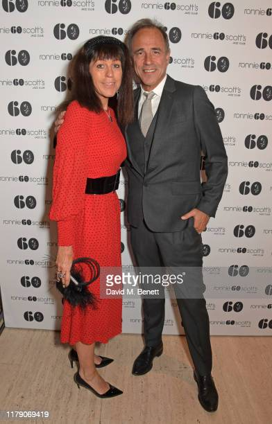 Jill Green and Anthony Horowitz attend A Night At Ronnie Scotts 60th Anniversary Gala at the Royal Albert Hall on October 30 2019 in London England