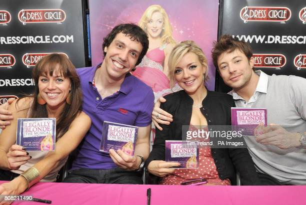 Jill Halfpenny Alex Gaumond Sheridan Smith and Duncan James some of the cast of hit musical Legally Blonde at an album signing session at the Dress...