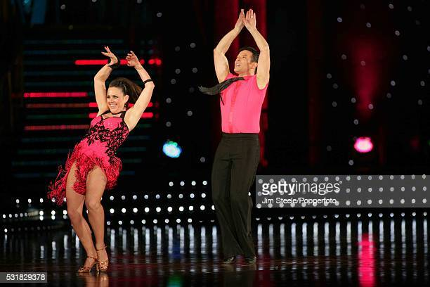 Jill Halfpenny and Darren Bennett performing on stage during the Strictly Come Dancing Live event at Wembley Arena in London on the 3rd February 2009